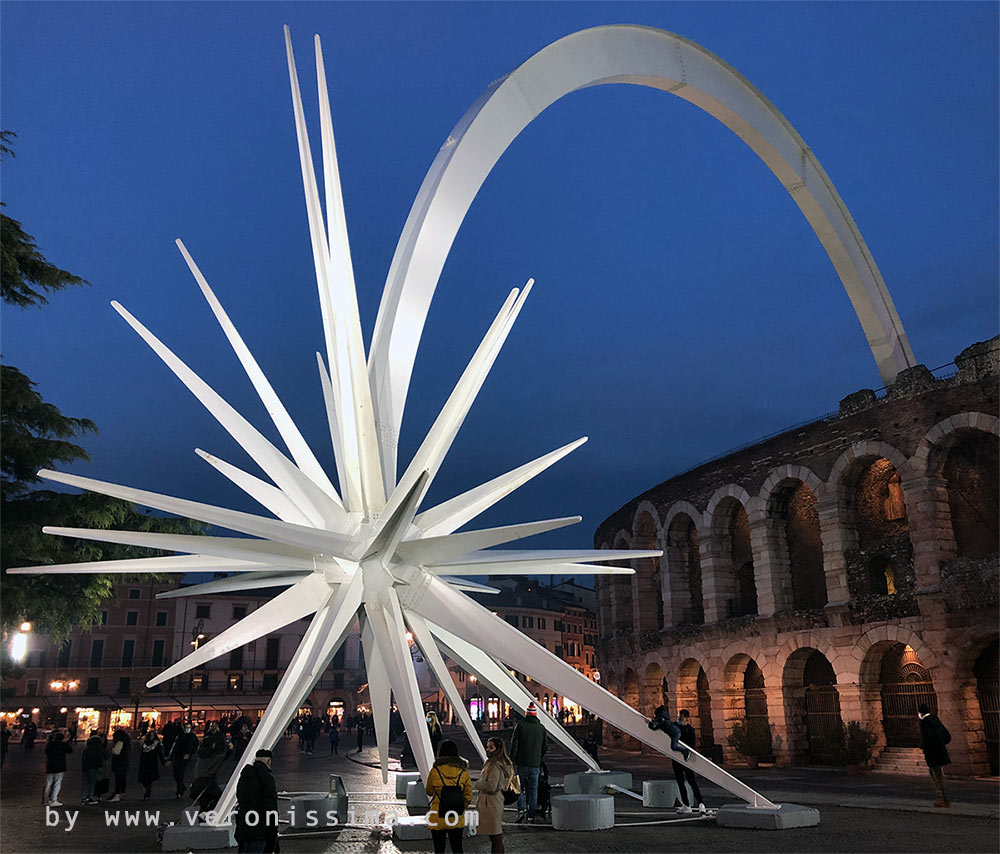 Stella Di Natale A Verona.La Stella Cometa Di Piazza Bra Natale A Verona