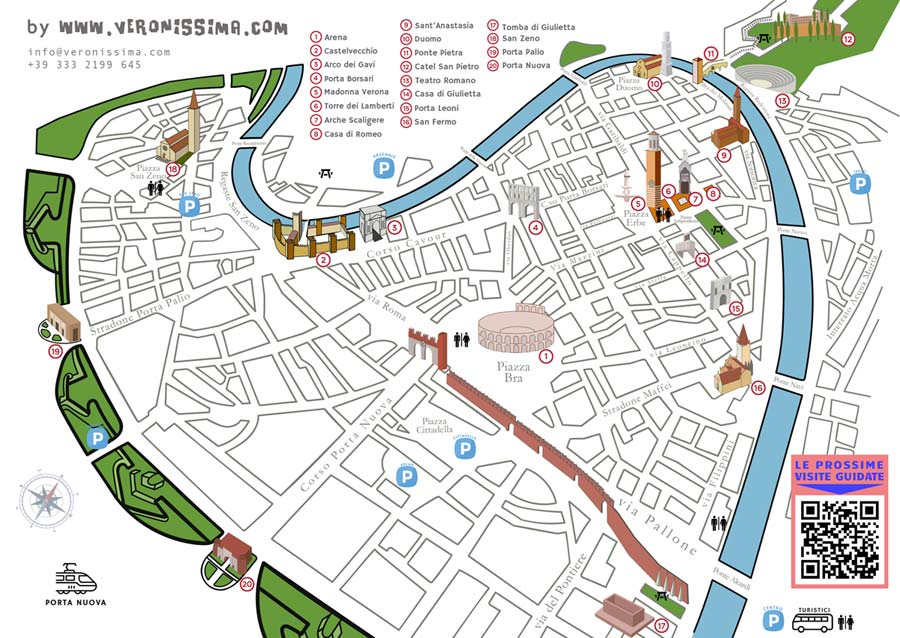 Tourist Map of Verona
