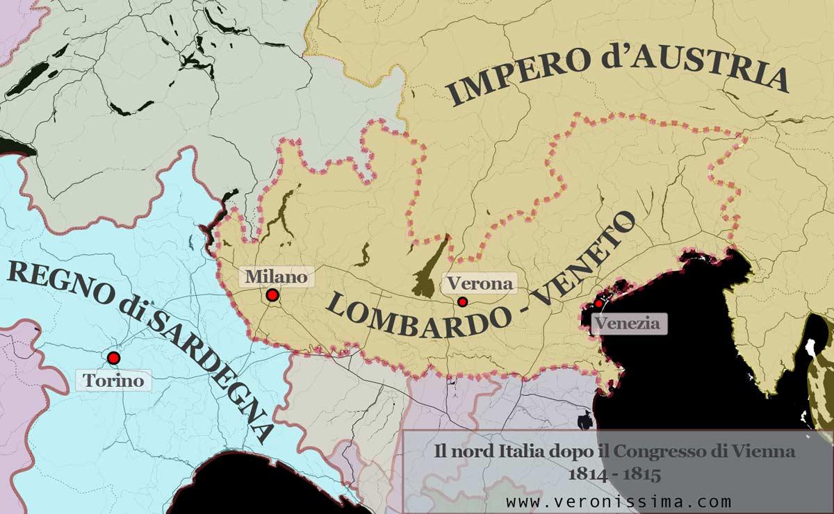 Cartina Dell Italia 1815.Verona Austriaca 1815 1848 Storia Di Verona