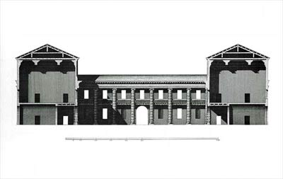 architectural prospect of villa santa sofia by palladio