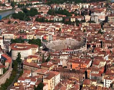 verona from above: the arena